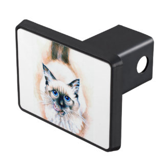 Siamese Cat Watercolor Trailer Hitch Cover