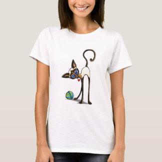 Siamese Cat Yarn Thief T-Shirt