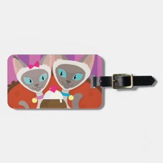 Siamese Cats Ice Cream Luggage Tag