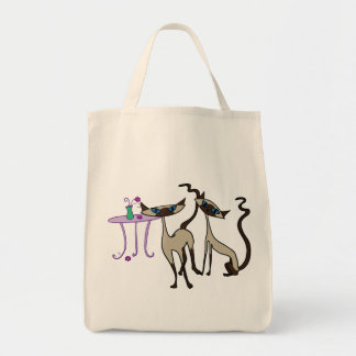 Siamese cats shopping bag