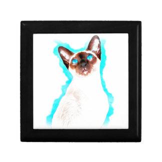 Siamese CatWatercolor Art Gift Box
