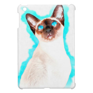 Siamese CatWatercolor Art iPad Mini Case