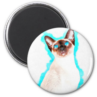 Siamese CatWatercolor Art Magnet