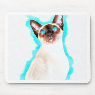 Siamese CatWatercolor Art Mouse Pad