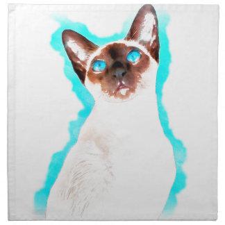 Siamese CatWatercolor Art Napkin