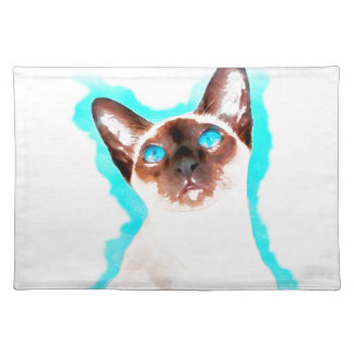 Siamese CatWatercolor Art Placemat