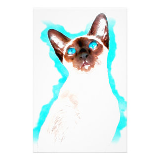 Siamese CatWatercolor Art Stationery