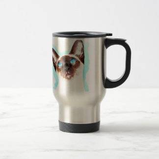 Siamese CatWatercolor Art Travel Mug