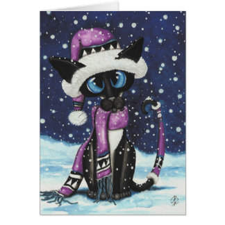 Siamese Christmas Cat by BiHrLe Card