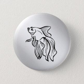 Siamese Fighting Fish 2 Inch Round Button