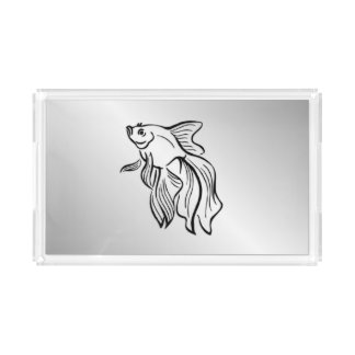 Siamese Fighting Fish Acrylic Tray
