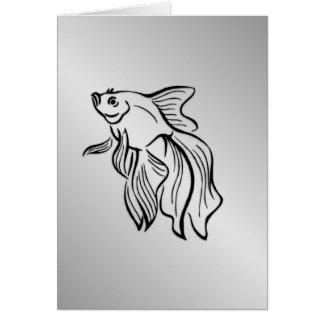 Siamese Fighting Fish Blank Inside Card