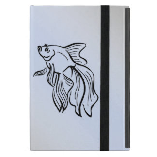 Siamese Fighting Fish Blue iPad Mini Cover