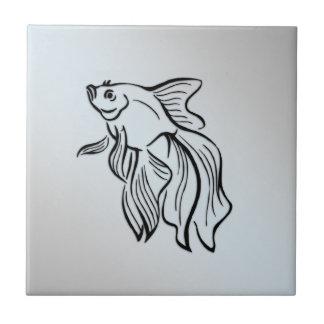 Siamese Fighting Fish Blue Tile
