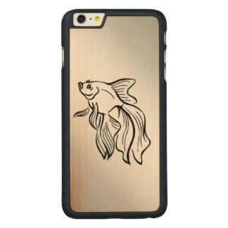 Siamese Fighting Fish Carved Maple iPhone 6 Plus Case