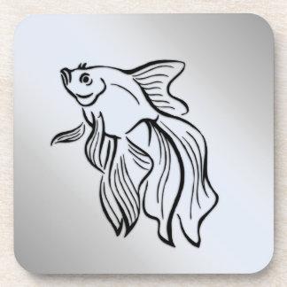Siamese Fighting Fish Coaster
