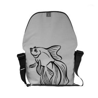 Siamese Fighting Fish Courier Bag