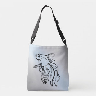 Siamese Fighting Fish Crossbody Bag