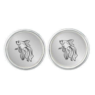 Siamese Fighting Fish Cufflinks