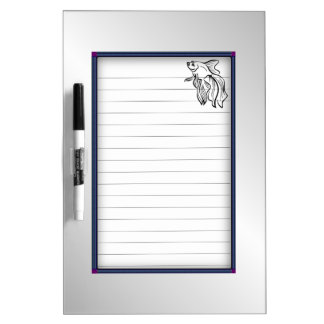 Siamese Fighting Fish Dry Erase Board