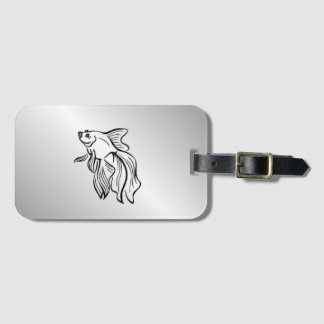 Siamese Fighting Fish Luggage Tag