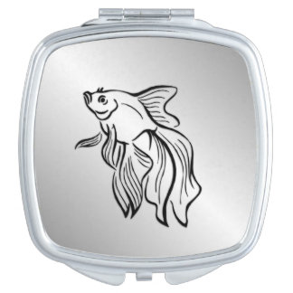 Siamese Fighting Fish Makeup Mirror