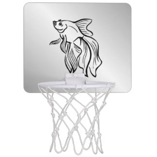 Siamese Fighting Fish Mini Basketball Hoop