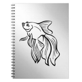Siamese Fighting Fish Notebooks