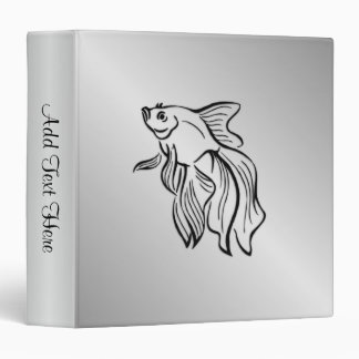 Siamese Fighting Fish Personalized Binder