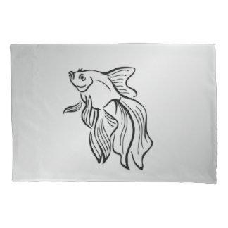 Siamese Fighting Fish Pillowcase