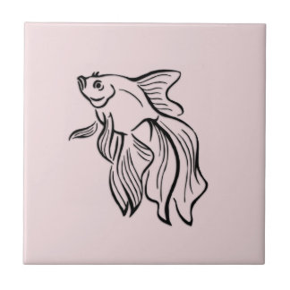 Siamese Fighting Fish Pink Tile