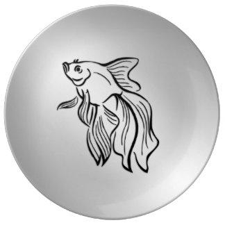 Siamese Fighting Fish Plate