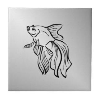 Siamese Fighting Fish Tile