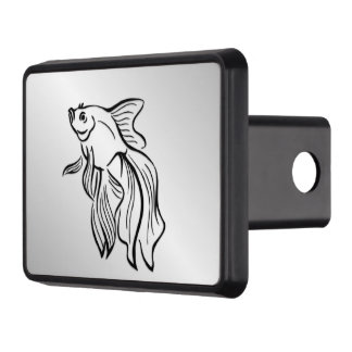 Siamese Fighting Fish Trailer Hitch Cover