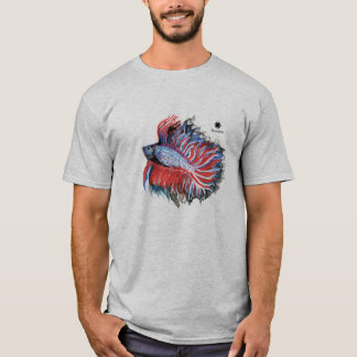 Siamese Fighting Fish Watercolour & Pencils T-Shirt
