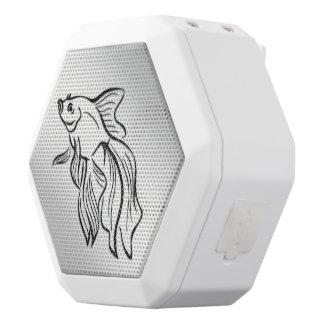 Siamese Fighting Fish White Bluetooth Speaker