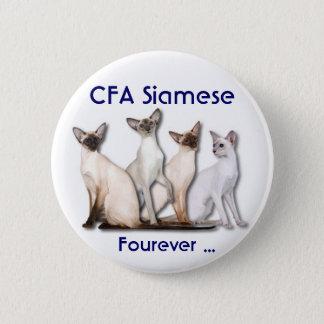 Siamese Forever 2 Inch Round Button