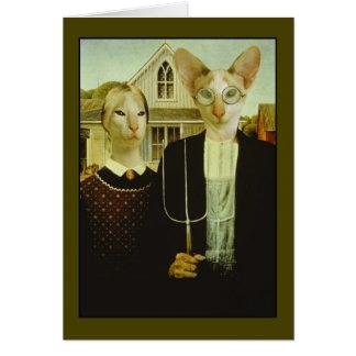 Siamese Gothic Card
