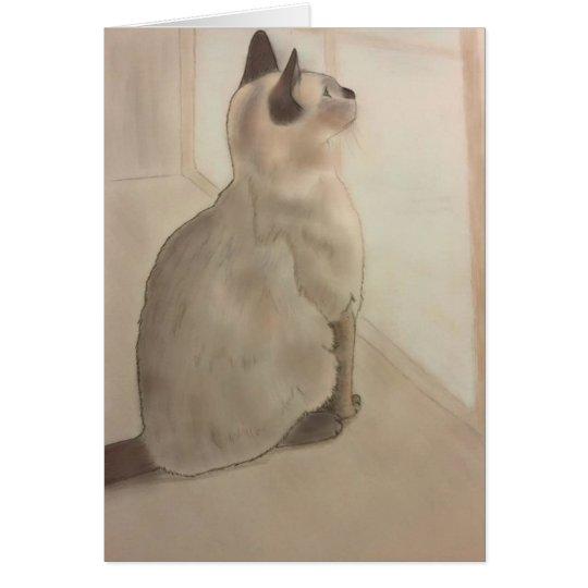 Siamese Kitten Blank Card