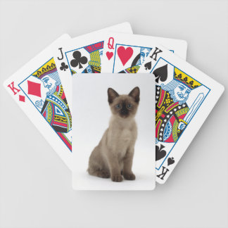 Siamese Kitten Cat Playing Cards