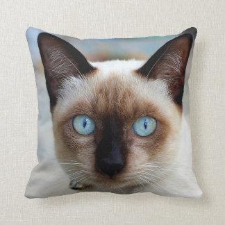 Siamese Kitty Face Throw Pillow