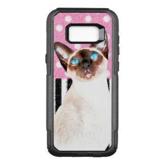 Siamese Pink Polka OtterBox Commuter Samsung Galaxy S8+ Case
