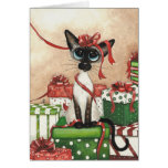 Siamese Red Ribbon Card
