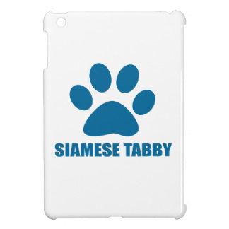 SIAMESE TABBY CAT DESIGNS iPad MINI COVER