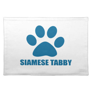 SIAMESE TABBY CAT DESIGNS PLACEMAT