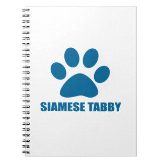 SIAMESE TABBY CAT DESIGNS SPIRAL NOTEBOOK