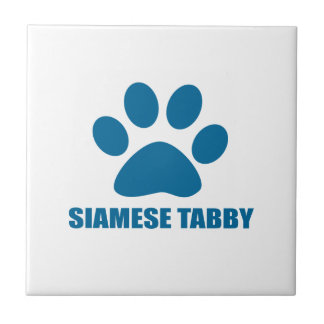 SIAMESE TABBY CAT DESIGNS TILE