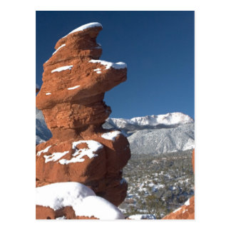 Siamese Twins and Pikes Peak Postcard