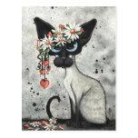 Siamese Valentine Hearts Postcard