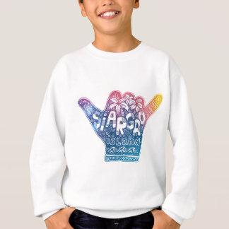 Siargao island surfing shaka hand sweatshirt
